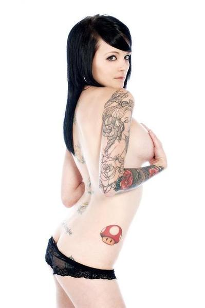 Tags:girls with ink, mario mushroom, nerd tattoo, nintendo, tattoo, tattooed