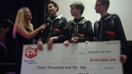 Valkyrie of the Frag Dolls interviewing Colwn after they took first place at IPL5